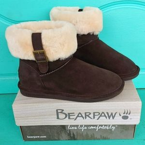 NWT BearPaw Abby chocolate II size 9